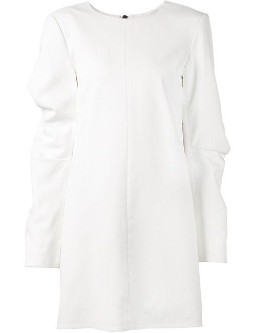 Vera Wang | Женское Белое Платье-Шифт С Круглым Вырезом