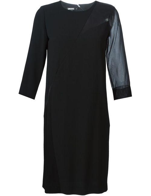 DKNY | Женское Черный Panelled Sheer Detail Dress