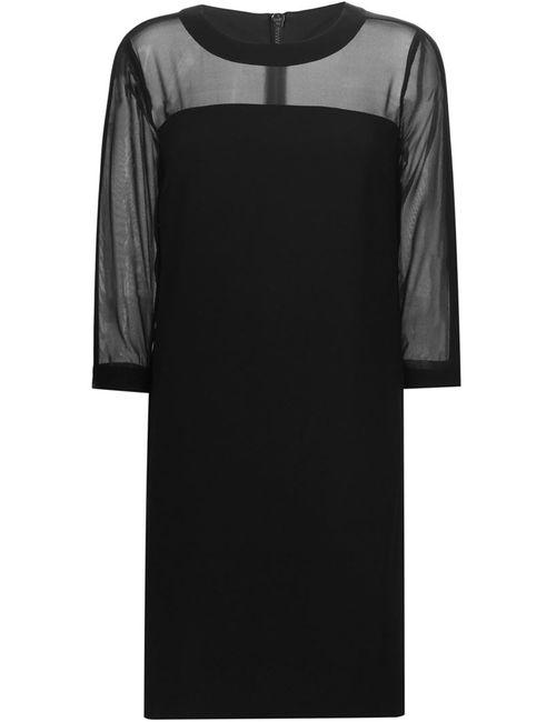 DKNY | Женское Чёрное Платье Шифт С Прозрачными Панелями