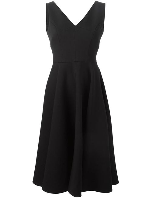 Dolce & Gabbana   Женское Чёрное Раслкшенное Платье C V-Образным Вырезом