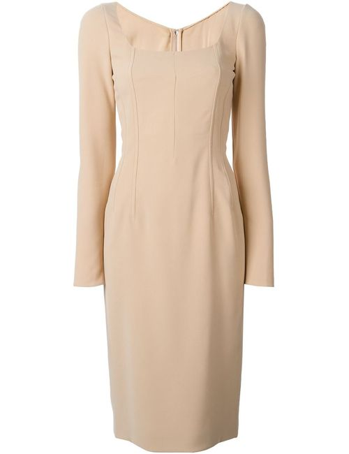 Dolce & Gabbana | Женское Nude & Neutrals Square Neck Dress