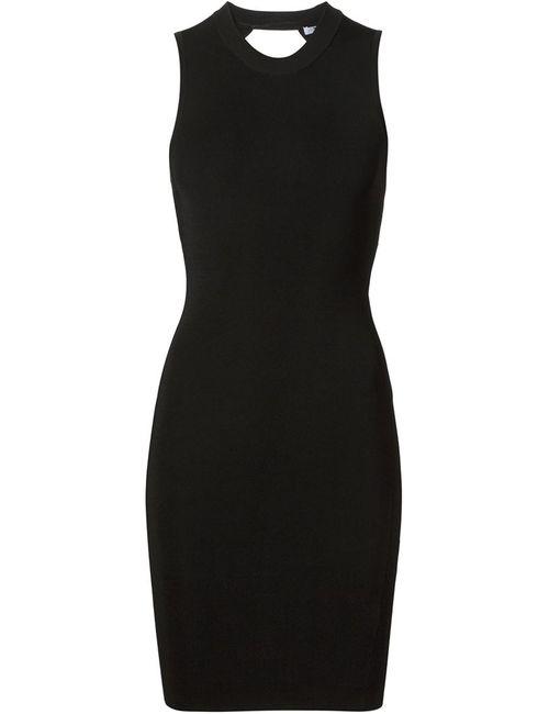Alexander Wang | Женское Чёрное Облегающее Платье Без Рукавов