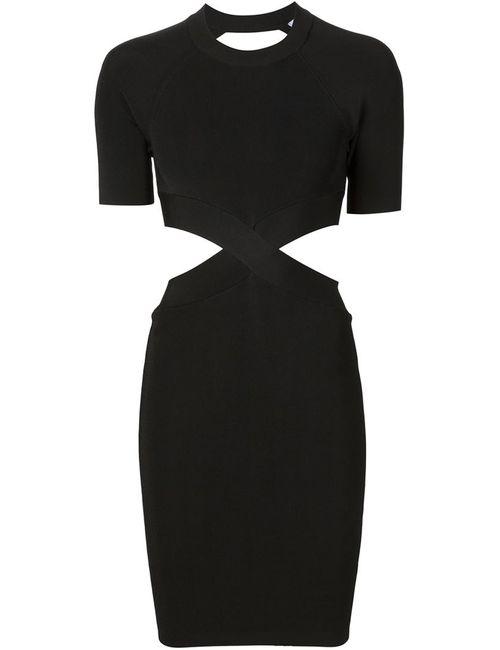 Alexander Wang | Женское Черный Облегающее Платье С Вырезными Деталями