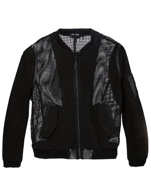 Blk Dnm | Мужская Черный Куртка С Панелями В Сетку