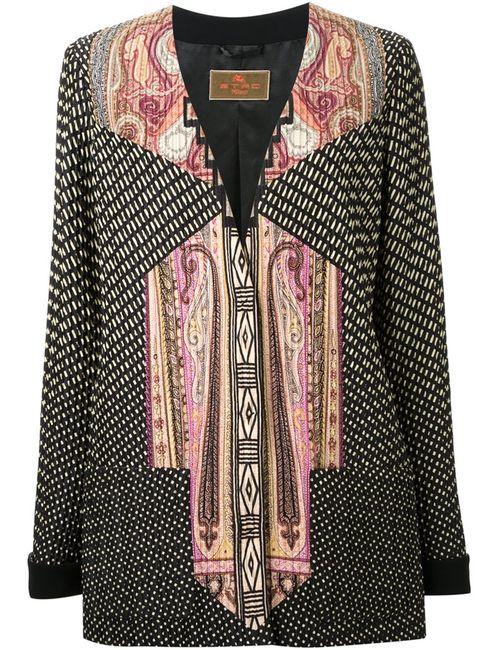Etro | Женское Многоцветный Mixed Print V-Neck Jacket