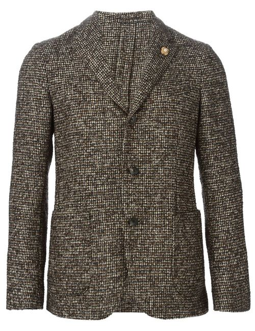 Lardini   Мужское Коричневый Tweed Blazer