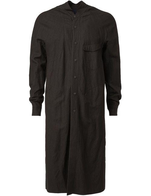 ZIGGY CHEN   Мужское Черный Long Shirt Jacket