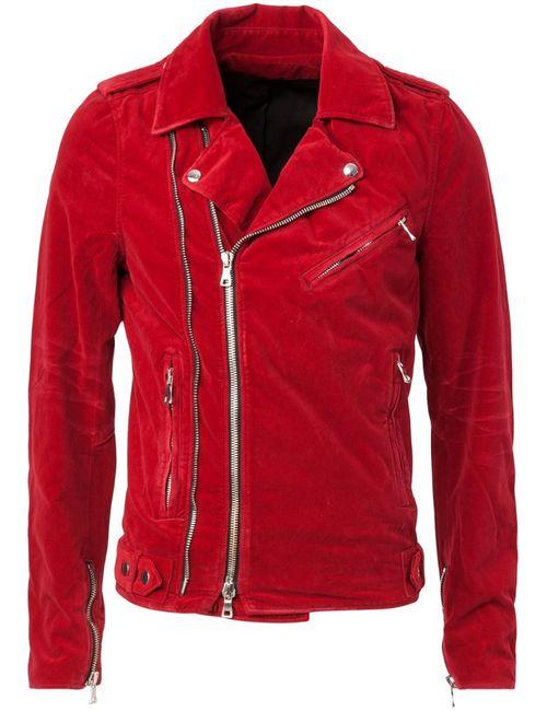 Balmain   Мужское Красный Biker Jacket
