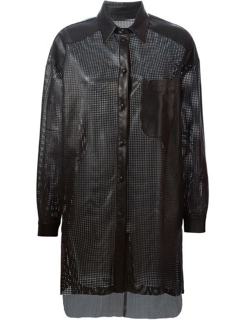 Drome | Женское Чёрный Laser Cut Shirt Jacket