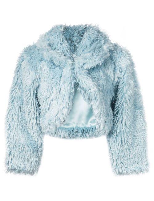 Jeremy Scott | Женское Синий Cropped Shaggy Jacket