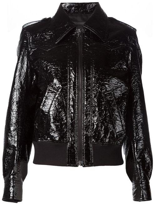 Comeforbreakfast | Женское Черный Classic Collar Jacket