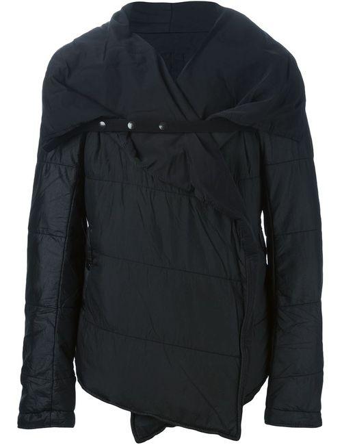 RICK OWENS DRKSHDW | Мужская Чёрная Дутая Куртка С Запахом