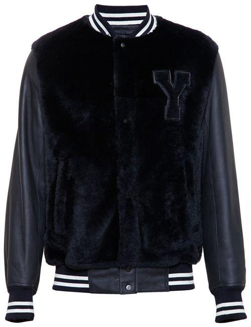 Yves Salomon | Мужское Синий Fur And Leather Teddy Jacket