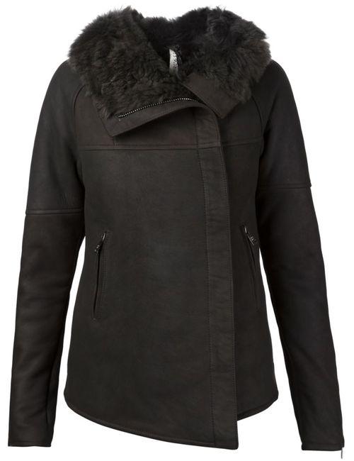 Giorgio Brato   Женская Серая Куртка С Объемным Воротником