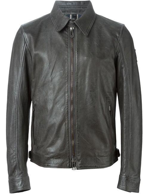 Belstaff | Мужская Серая Куртка На Молнии