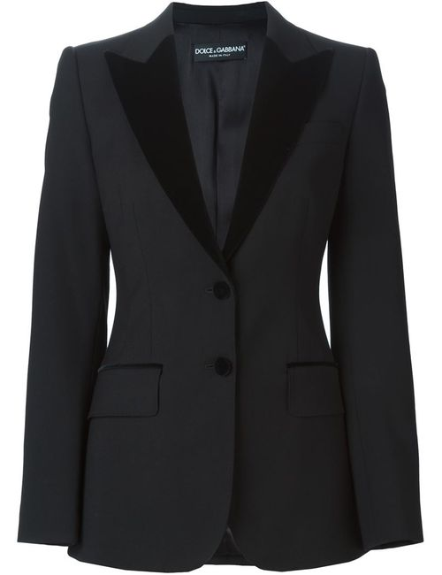 Dolce & Gabbana | Женское Чёрный Velvet Peaked Lapel Suit Jacket