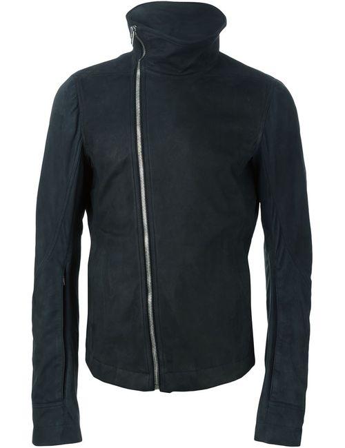 Rick Owens | Мужская Синяя Байерская Куртка С Высоким Воротником