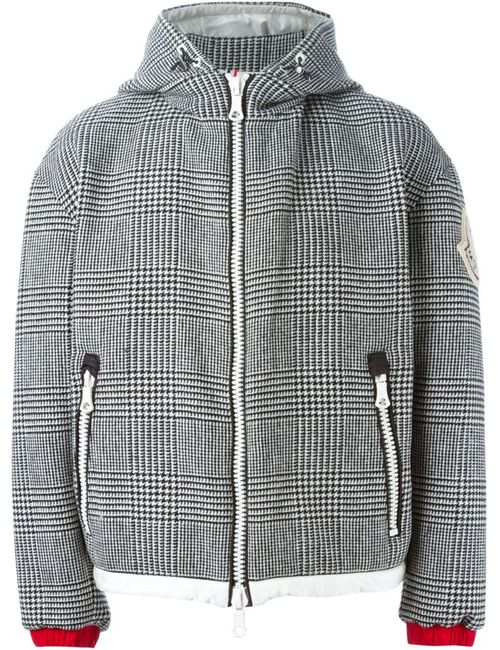 MONCLER X AMI | Мужская Чёрная Дутая Куртка В Клетку