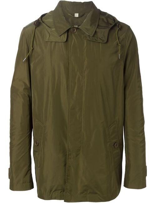 Burberry Brit   Мужская Зелёная Куртка С Капюшоном