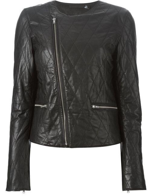 Blk Dnm   Женское Чёрный Quilted Biker Jacket