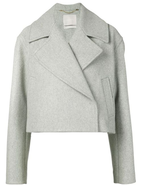 Jason Wu | Женское Серый Cropped Notched Collar Jacket