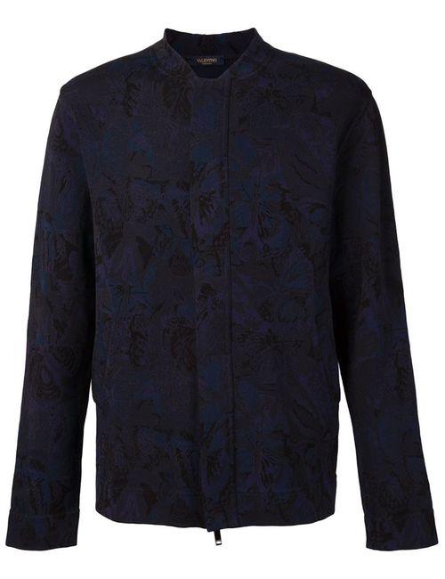 Valentino | Мужская Синяя Куртка-Бомбер Camubutterfly