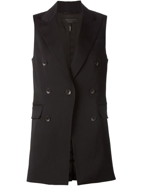 Rag & Bone | Женское Черный Double Breasted Vest