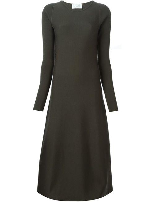 LEMAIRE | Женское Зелёное Вязаное Расклешенное Платье