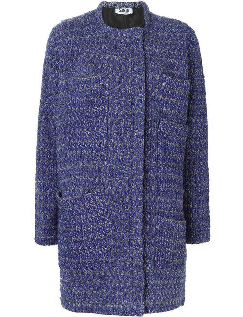 Sonia By Sonia Rykiel | Женская Синяя Вязаная Куртка На Молнии