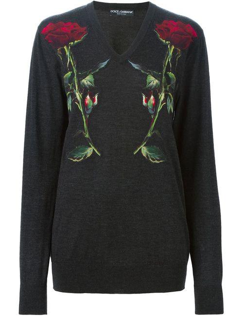 Dolce & Gabbana | Женское Серый Appliqué Sweater