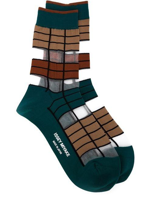 Issey Miyake | Женское Зелёный Striped Socks