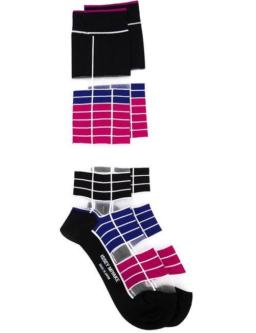 Issey Miyake   Женское Черный Long Striped Socks
