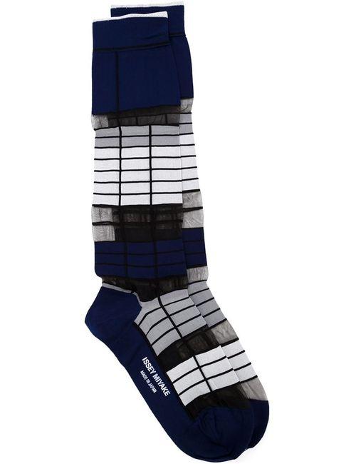 Issey Miyake   Женское Синий Long Striped Socks