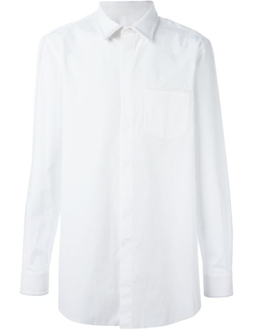 Givenchy | Мужская Белая Рубашка С Нагрудным Карманом