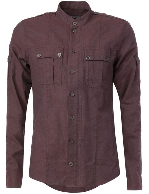 Balmain   Мужское Розовый Mandarin Collar Shirt