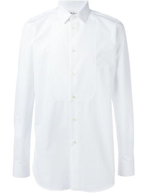 Saint Laurent | Мужская Белая Рубашка С Нагрудником