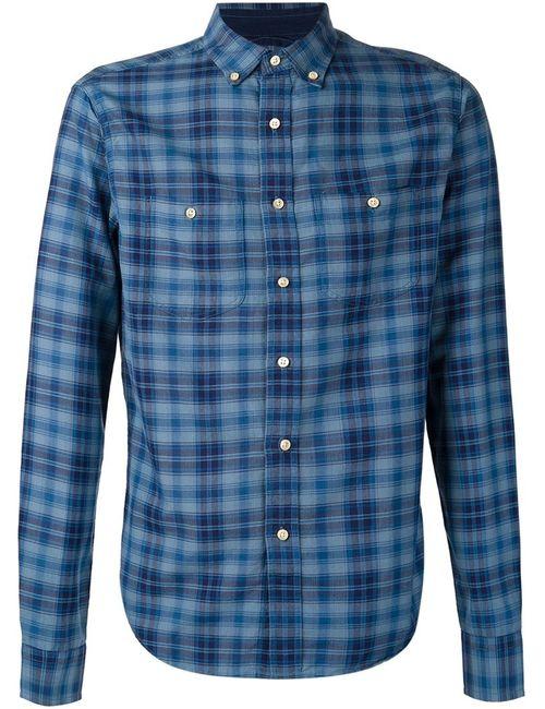ALEX MILL | Мужское Синий Checked Shirt