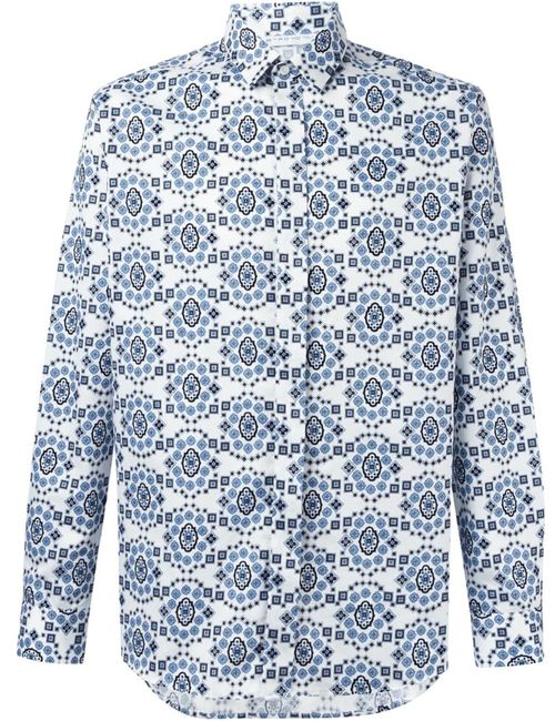 Etro   Мужское Синий Print Shirt