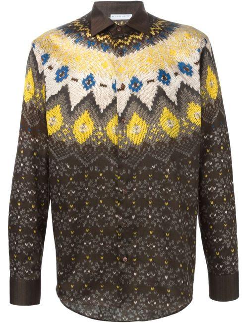 Etro | Мужское Желтый Fair Isle Print Shirt