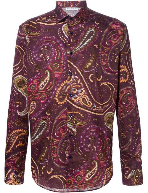 Etro   Мужская Розовая Рубашка С Принтом Пейсли