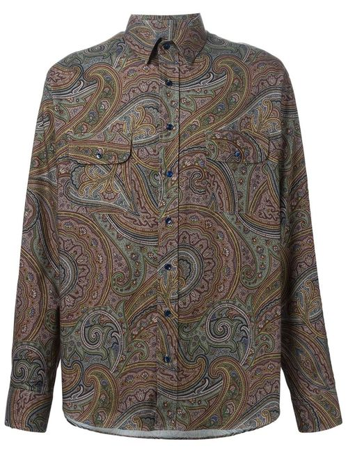 Etro | Мужская Многоцветная Рубашка С Принтом Пейсли