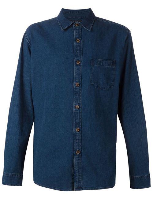 ALEX MILL | Мужская Синяя Рубашка Dobby