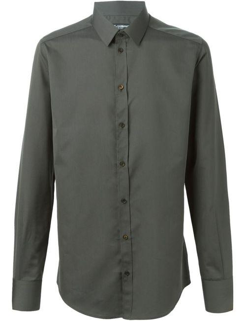 Dolce & Gabbana   Мужская Серая Классическая Рубашка