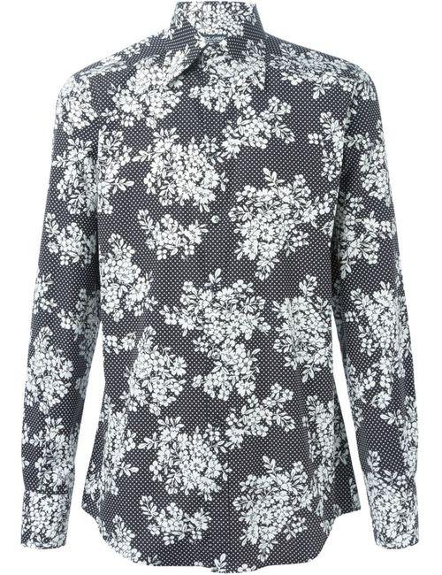 Dolce & Gabbana | Мужская Чёрная Рубашка С Цветочным Принтом