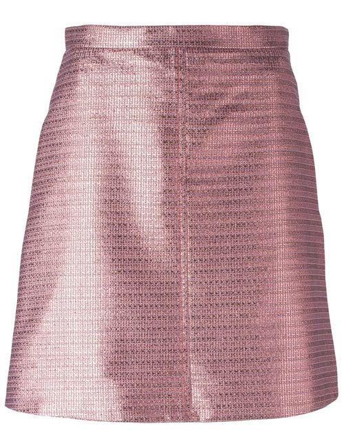 Carven | Женская Розовая Жаккардовая Мини-Юбка