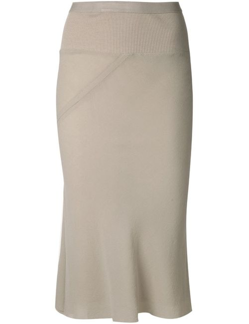 Rick Owens | Женское Белый Pleated Panel Pencil Skirt