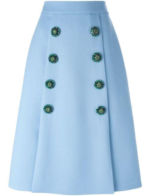 Dolce & Gabbana | Женская Синяя Юбка На Пуговицах