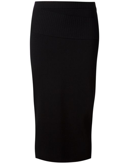 Dion Lee | Женское Чёрный Ribbed Detail Knit Pencil Skirt