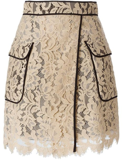 MSGM | Женское Lace Piped Skirt