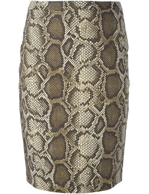 Michael Michael Kors | Женское Многоцветный Python Print Pencil Skirt